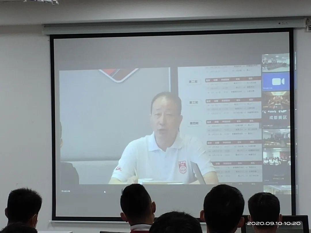 中国足协纪委书记闫占河对赛区人员进行纪律宣讲  ▲